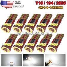 10x White Canbus Error Free Car T10 15-SMD LED Wedge Light Bulb W5W 194 168 2825