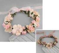 Wedding Flower Crown Headband Floral Wreath Ladies Christmas Hair Accessories