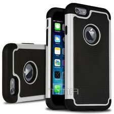 iPhone 6 6S Rugged Impact Shockproof Hybrid Shock Proof Armor Case Cover - White