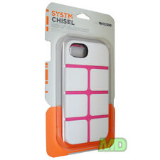 New OEM Incase Systm Chisel White/Pink Dual layers Hard Case for Apple iPhone 5
