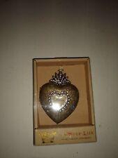 Heart Locket Ornament Grandma A Gilded Life Demdaco Embellished Pendant Nib