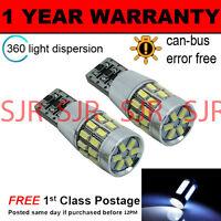 2x W5W T10 501 Canbus Nessun Errore Bianco 30 SMD LAMPADE LUCI POSIZIONE LED