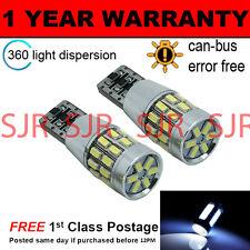 2X W5W T10 501 CANBUS BIANCO SENZA ERRORI 30 SMD LAMPADINE LED LUCE LATERALE