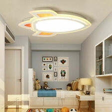 Modern Led Ceiling Light Cartoon Rocket Children's Room Chandeliers Bedroom