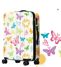 D346 Lock Universal Wheel Butterfly Travel Suitcase Cabin Luggage 28 Inches W