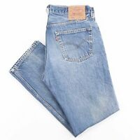 Vintage LEVI'S 501XX Blue Denim Regular Straight Jeans Mens W34 L31