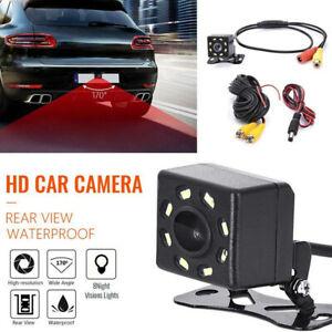 8LED HD Car Rear View 170° Reverse Backup Camera Parking Night Vision Waterproof