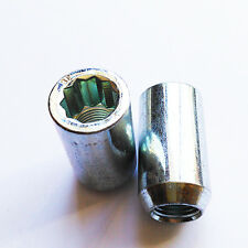 5 PCS M12 x 1.5 (M12x1,5) WHEEL TUNING NUTS 20mm DIAMETER for 10 point star key