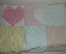 NEW-Pottery Barn Kids Heart Patchwork Quilted, Standard Sham-Pink Multi
