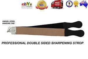 LEATHER BARBER SALON STRAIGHT CUT THROAT RAZOR BLADE SHARPENING STROP/BELT/STRAP