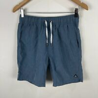 Industrie Mens Shorts Small Blue Elastic Waist Drawstring Pockets