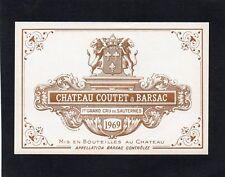 SAUTERNES 1ER GCC VIEILLE ETIQUETTE CHATEAU COUTET 1969 RARE §24/11/17§