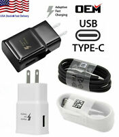 For Samsung Galaxy S20 S10 S9 Note 20 10 9 Fast Wall Charger + Type C USB Cable