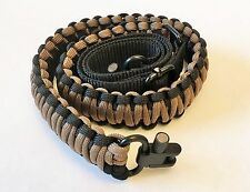 Black & Coyote Brown Paracord 550 Adjustable Gun Sling w Swivels Free Shipping