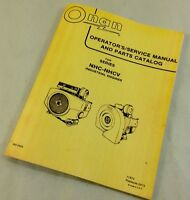 ONAN NHC-NHCV INDUSTRIAL ENGINES OPERATORS SERVICE MANUAL PARTS CATALOG REPAIR