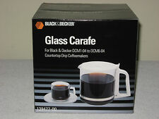 NEW BLACK & DECKER WHITE GLASS CARAFE REPLACEMENT COFFEE POT DCM1-04 TO DCM6-04