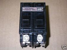 GE TQAL-AC TQAL2160 2 pole 60 amp 120/240v Circuit Breaker chipped