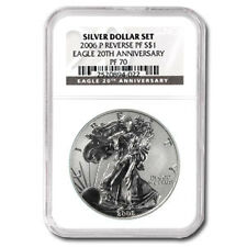 2006-P Reverse Proof Silver American Eagle Coin - PF-70 UCAM NGC Black Label