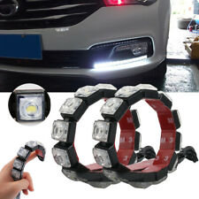 2x Car Flexible 6 LED DRL Daytime Running Light Driving Daylight Fog Light Lamp