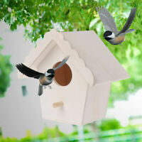Oiseau en Bois Maison Nidification Boite Suspendu Crochet Nid Jardin Déco Solde