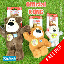 KONG Wild Knots Bear Dog Toy Strong Knotted Rope Squeaker Plush Stuffed Teddy