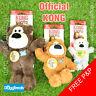 KONG Wild Knots Bear Dog Toy Strong Knot Rope Squeak Plush Small Medium Large