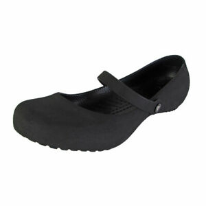 "Crocs Womens ""Alice Suede"" Mary Jane Shoes Black Size 5 (US) 35 (EUR)"