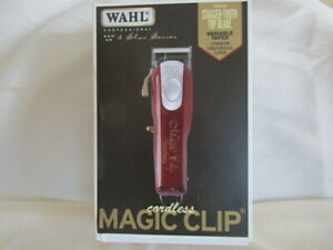 Wahl 5 Star Series Model 8148 Cordless Magic Clip Red