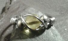Handmade Natural Citrine Wire Wrap Ring ANY SIZE