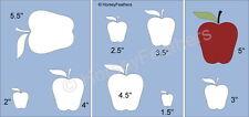 NEW-Apples~Shapes STENCIL~ DIY U Paint Pie Farm Orchard Fruit Harvest Food Eat