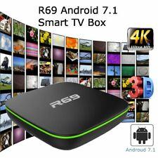 R69 Android 7.1 Smart TV Box 8GB WiFi HDMI 4K Media Player