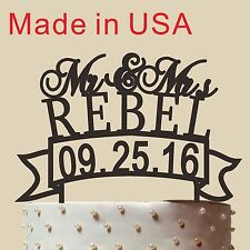 """Personalized Unique Wedding Cake Topper,Mr and Mrs, Acrylic, made in USA 5"""""""