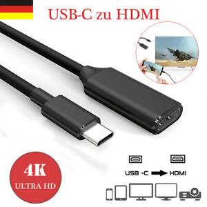 USB C Typ-C zu auf HDMI 4K HD TV AV Adapter Kabel für Macbook Samsung Huawei TOP