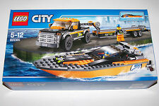 LEGO City 60085 4x4 PICK UP & POWERBOAT. Mint condition. Express post option. *