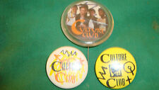 OLD RARE VINTAGE RETRO PIN LAPEL TIN BADGE POP BAND CULTURE CLUB BOY GEORGE
