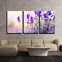 "Wall26 - Lavender Field - Canvas Art Wall Decor - 16""x24""x3 Panels"