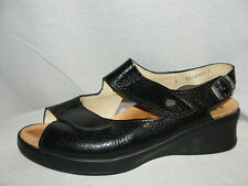 FINN COMFORT Shoes Women's Size 7.5 US 5A UK Black Adjustable Slingback Sandals