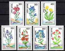 Mongolie 1991 fleurs des montagnes Yvert n° 1801 à 1807 neuf ** 1er choix
