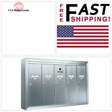 Florence Mailbox 1250 Vertical 5-Compartment Aluminum Surface-Mount Condo