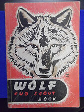 Wolf Cub Scout Book BSA CSA CUBS original cover 1948 vintage 2nd edition