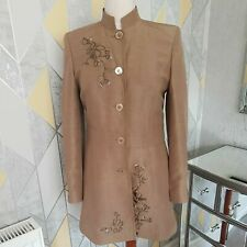 PLANET JACKET, SILK BLEND, 18, BRONZE, ORIENTAL STYLE, EMBROIDERY, LINED, EX CON