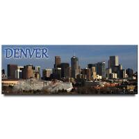 Denver panoramic fridge magnet Colorado travel souvenir