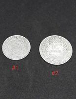 Lot De 2 Monnaies Alaouite Maroc Mohammed V 5 et 10 Francs 1352H Argent
