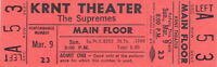 THE SUPREMES 1969 TOUR UNUSED KRNT CONCERT TICKET / DIANA ROSS / NMT 2 MNT No. 1