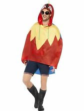Mens Parrot Design Ponchos Waterproof Party Jacket Fancy Dress Festival Animal