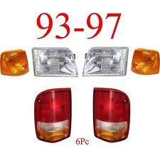 93 97 Ford Ranger 6Pc Head, Side & Tail Light Kit, 2WD, 4WD, Complete New In Box