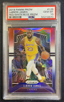 2019 Panini Prizm Red White Blue Prizms LeBron James #129 PSA 10 GEM MINT