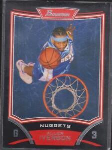 2008 Bowman Draft Picks & Stars #33 Allen Iverson Denver Nuggets