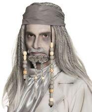 Deluxe Ghost Pirate Wig & Beard Halloween Mens Fancy Dress Costume Accessory