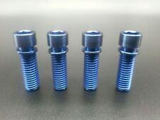 4Pcs/lot Titanium Ti Blue BMX Stem M8x25 Bolts Allen Hex Head Screw Washer